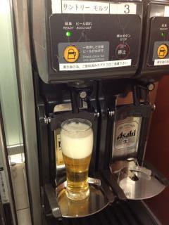 130328伊丹サクララウンジ生ビール.JPG