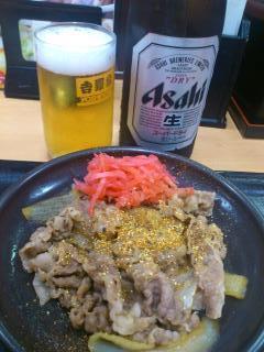 130731牛皿&ビール@吉野家(神戸駅前).jpg