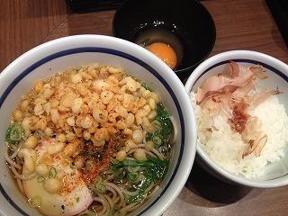 150828モーニングセットそば@麺串(京都).jpg